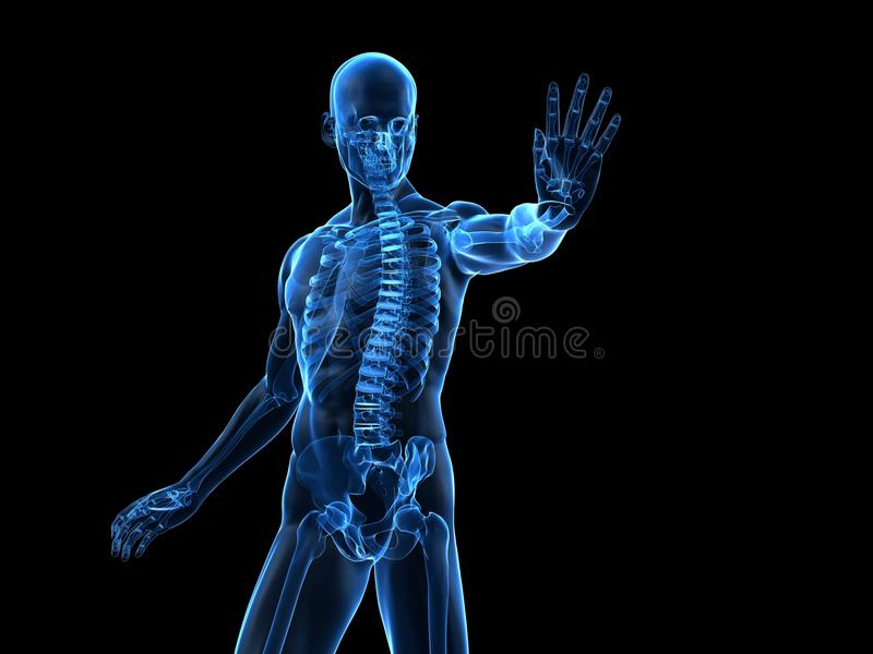 Download Male defense pose stock illustration. Illustration of syndrome - 14390895