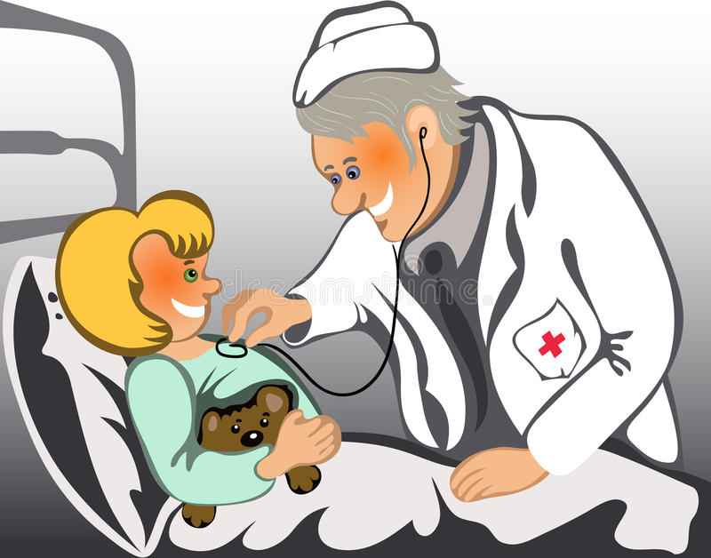 Download Male Doctor Examining A Child Stock Vector - Image: 17238368