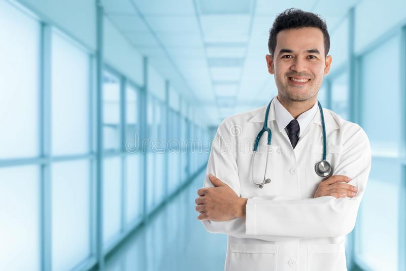 Male Doctor in the Hospital stock image