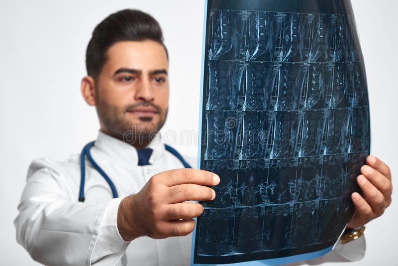 Male doctor posing at studio stock images