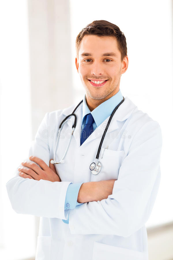 Download Male Doctor With Stethoscope Royalty Free Stock Image - Image: 38075856