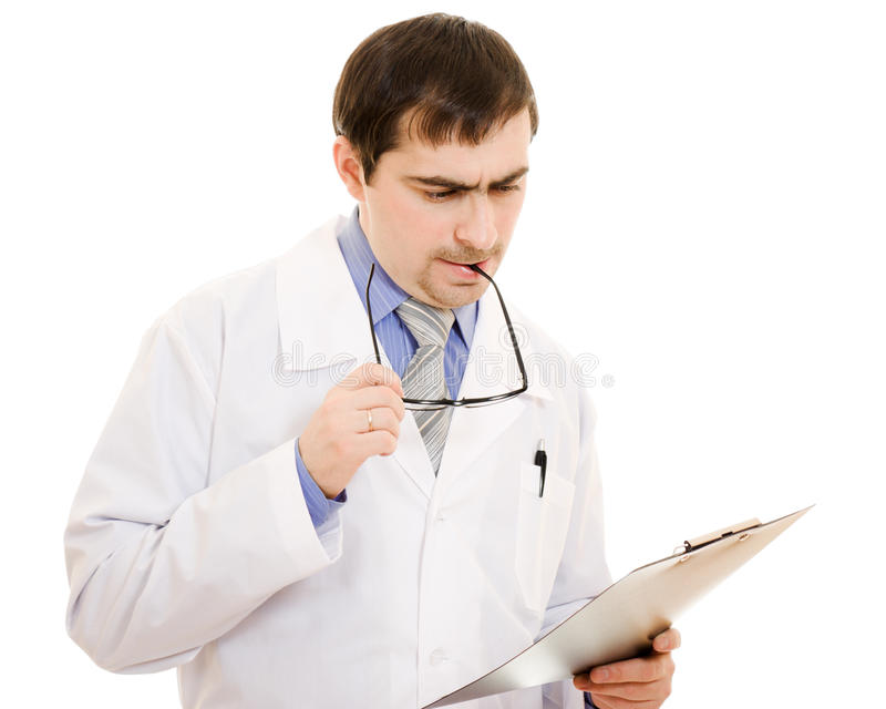 Download Male doctor thinks stock image. Image of medicine, holding - 24622873