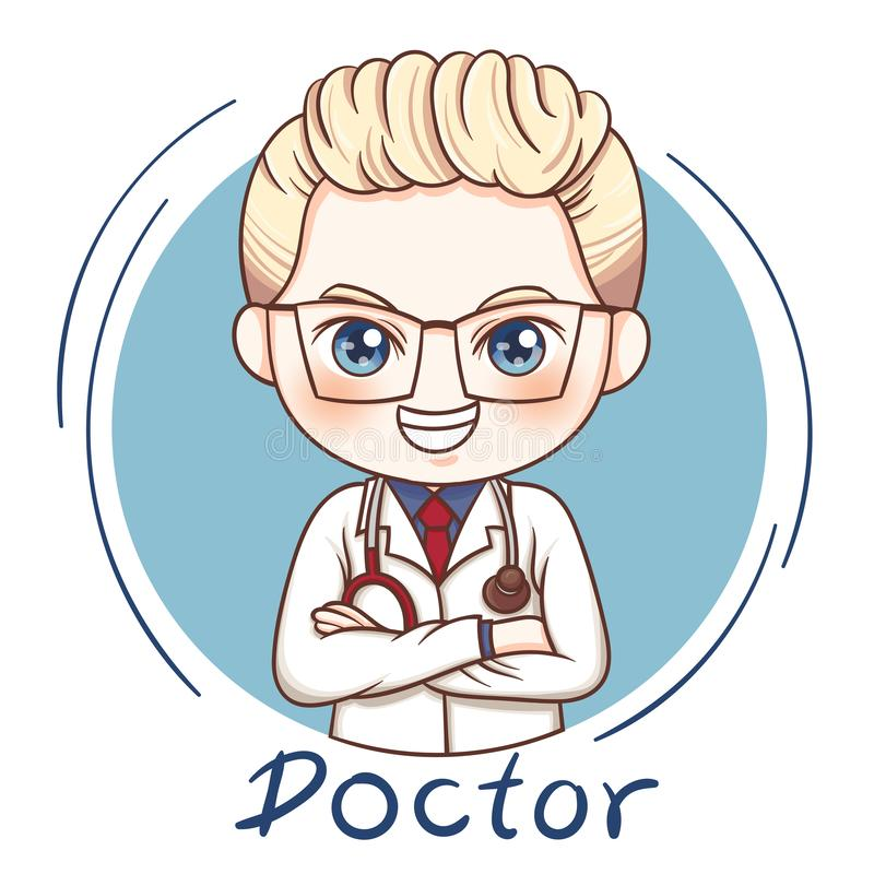 Male Doctor_vector. Illustration of cartoon character male doctor royalty free illustration