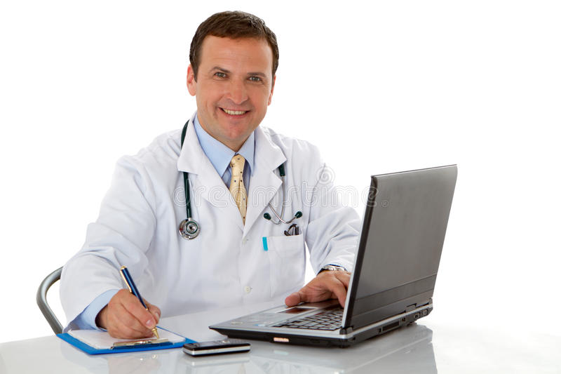 Download Male Doctor Write Medical Reports Stock Image - Image: 16813151