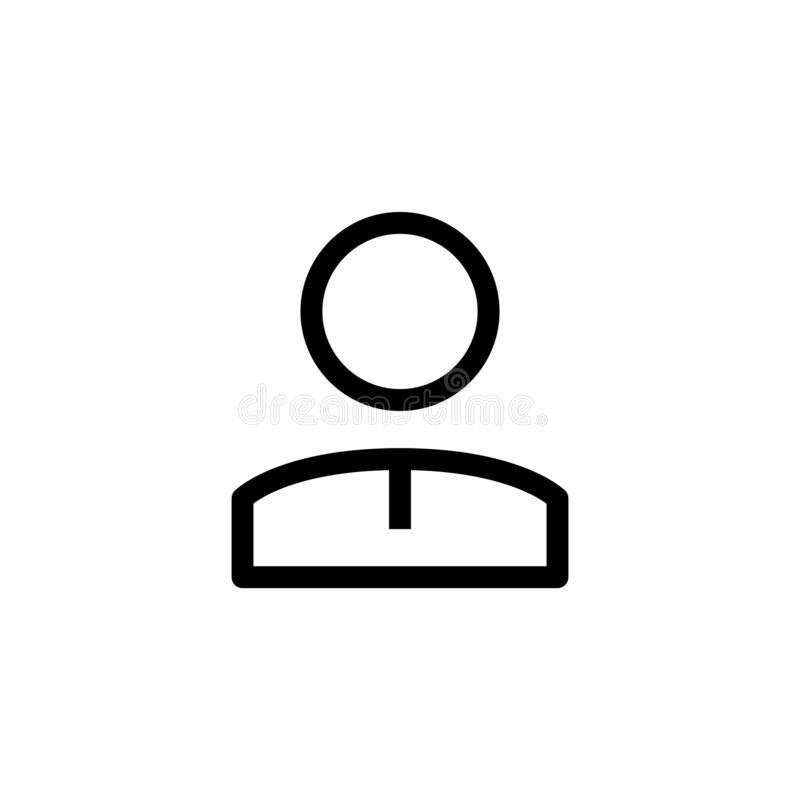 Male employee icon design person office worker symbol. simple clean line art professional business management concept vector. Illustration design. eps 10 royalty free illustration