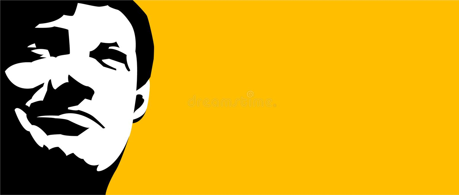 Male face background royalty free illustration