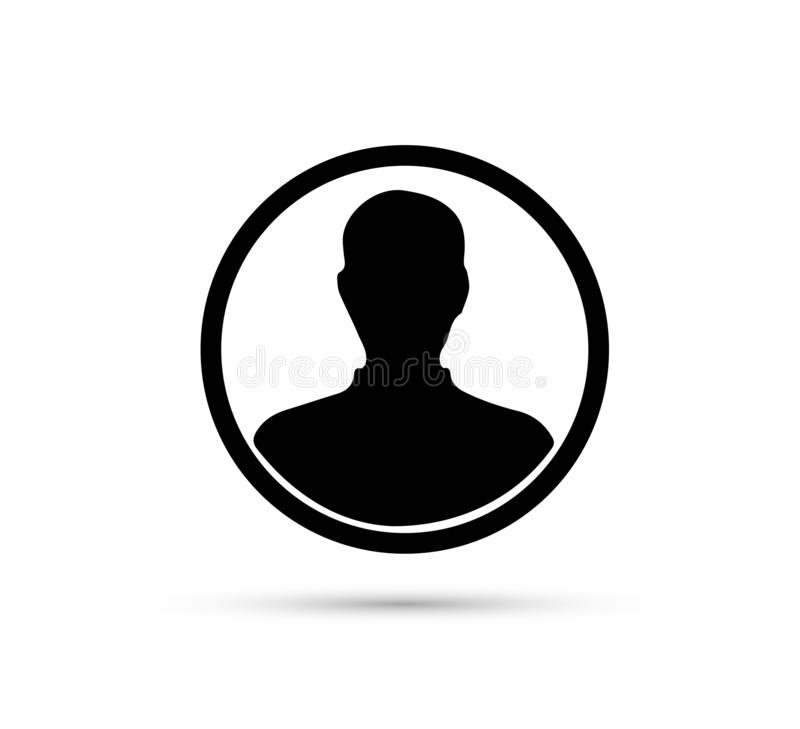 Male face silhouette or icon. Man avatar profile. Unknown or anonymous person. Vector illustration. royalty free illustration