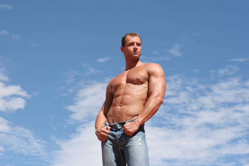 Male fashion model stock image