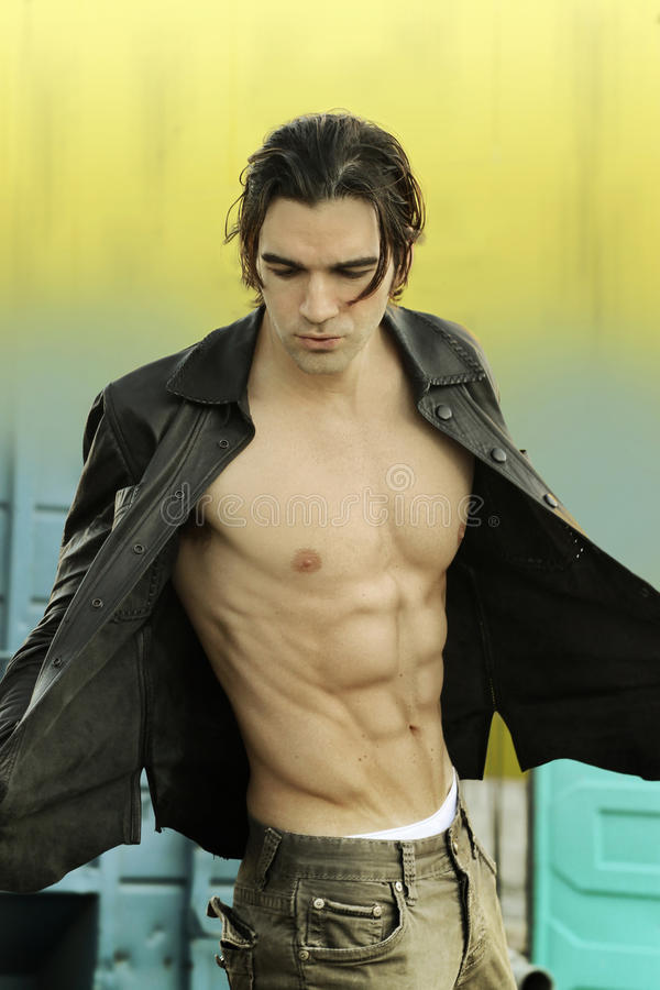Male fashion model royalty free stock images