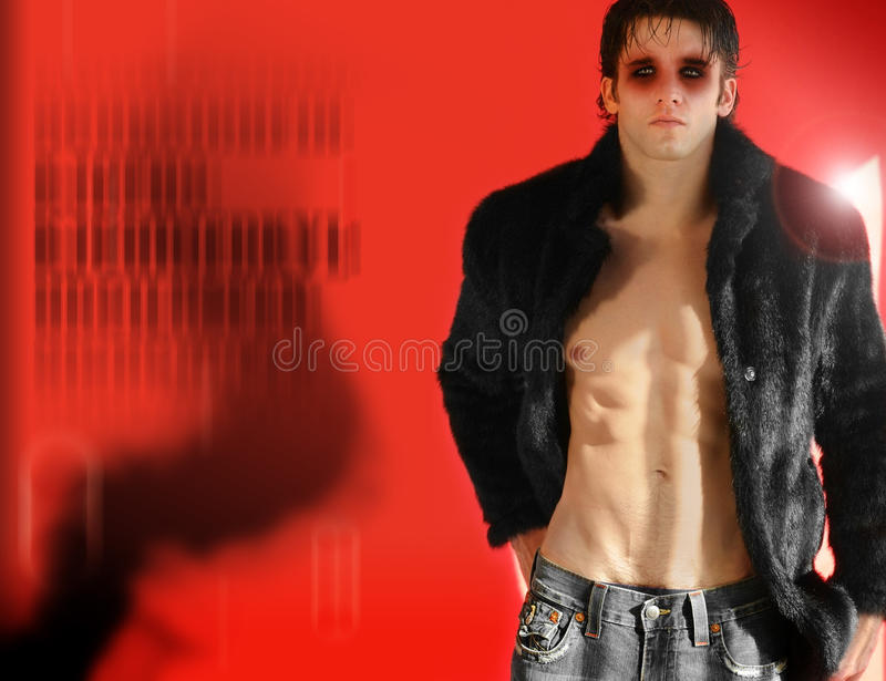 Male fashion model royalty free stock image