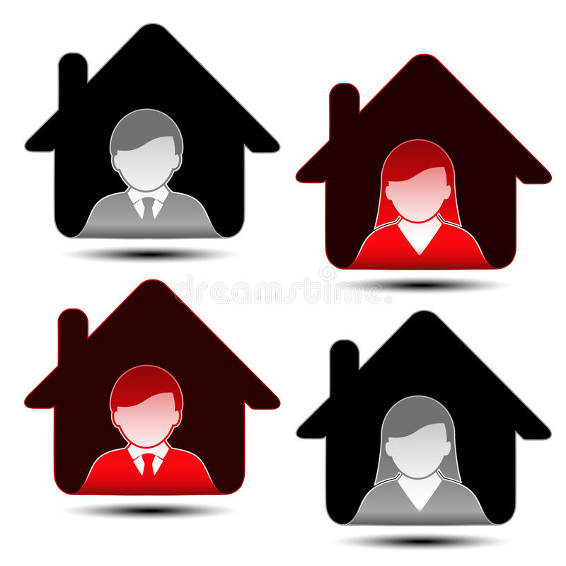 Download Male Female Avatar Icons - User, Member Stock Vector - Image: 30326675