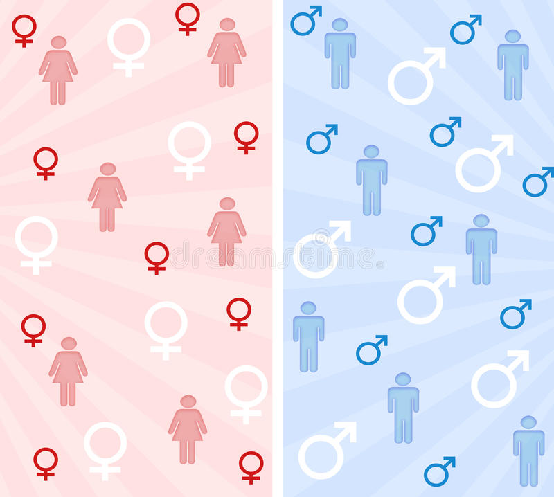 Download Male and female banners stock illustration. Image of pattern - 16566108