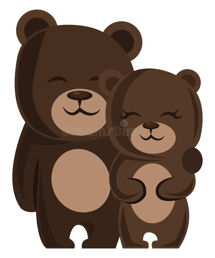 Teddy Bear Couple Hugging Heart Stock Vector - Illustration Of Embracing, Female 29496582-2559