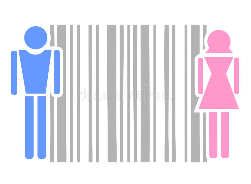 Male and female code. Design of male and female abstract illustration vector illustration