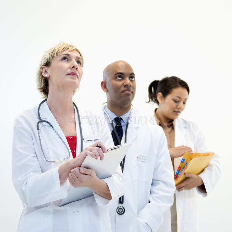 Male And Female Doctors. Royalty Free Stock Image