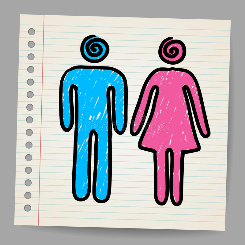 Download Male Female Doodle Vector Signs Stock Illustration - Image: 28648363