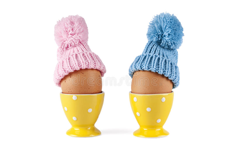 Male female eggs Easter stock photography