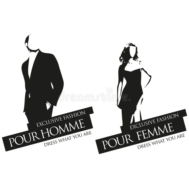 male and female fashion vector labels stock vector illustration of rh dreamstime com Male Icon Vector Male Icon Vector