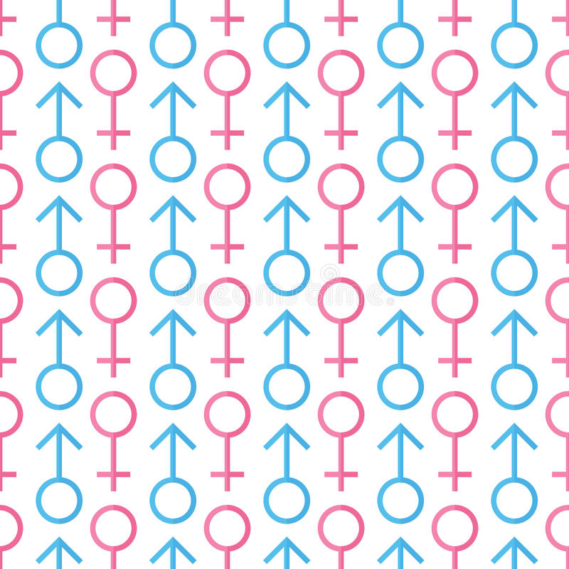 Male and female gender icons seamless pattern background royalty free illustration