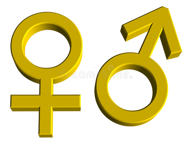Download Male And Female Gender Symbols Stock Photo - Image: 7019450