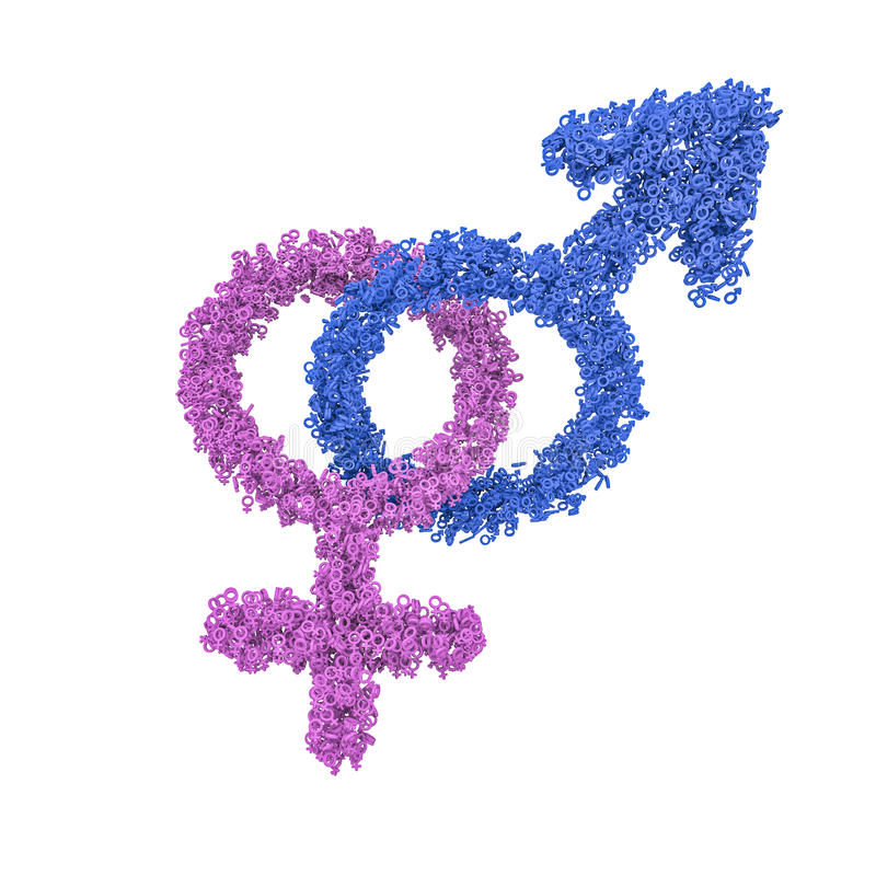 Download Male Female Gender Symbols Intertwined Stock Illustration - Image: 31342743