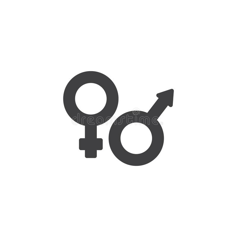 Male and female gender vector icon stock illustration