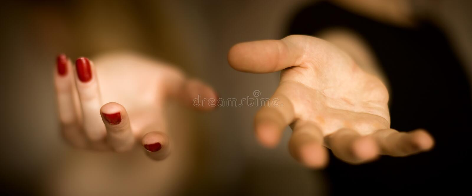 Download Male And Female Helping Hands Stock Image - Image: 2738415