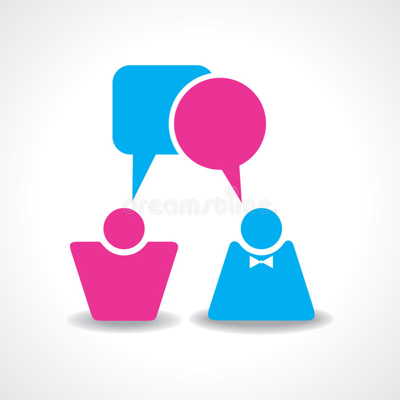 Download Male And Female Icons With Dialog Speech Bubbles Stock Vector - Illustration: 35754890