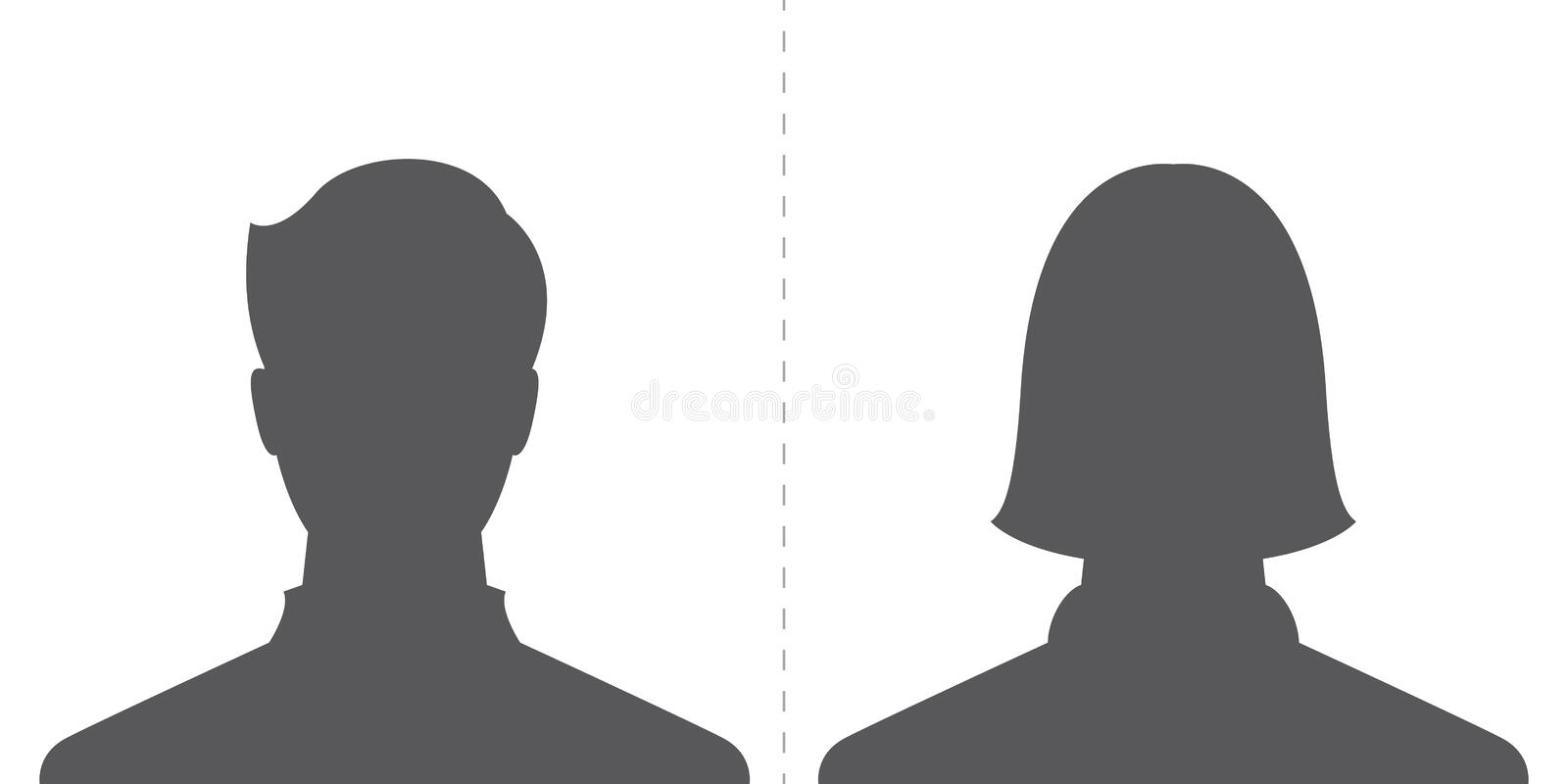 Male and female profile picture royalty free illustration