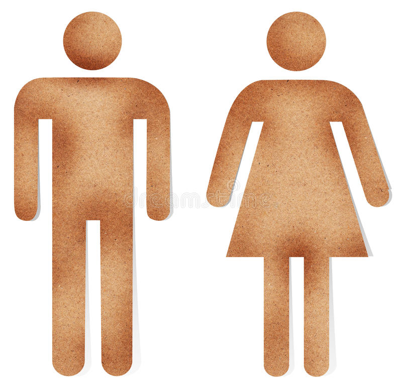 Download Male And Female On Recycle Paper Stock Image - Image: 26252251