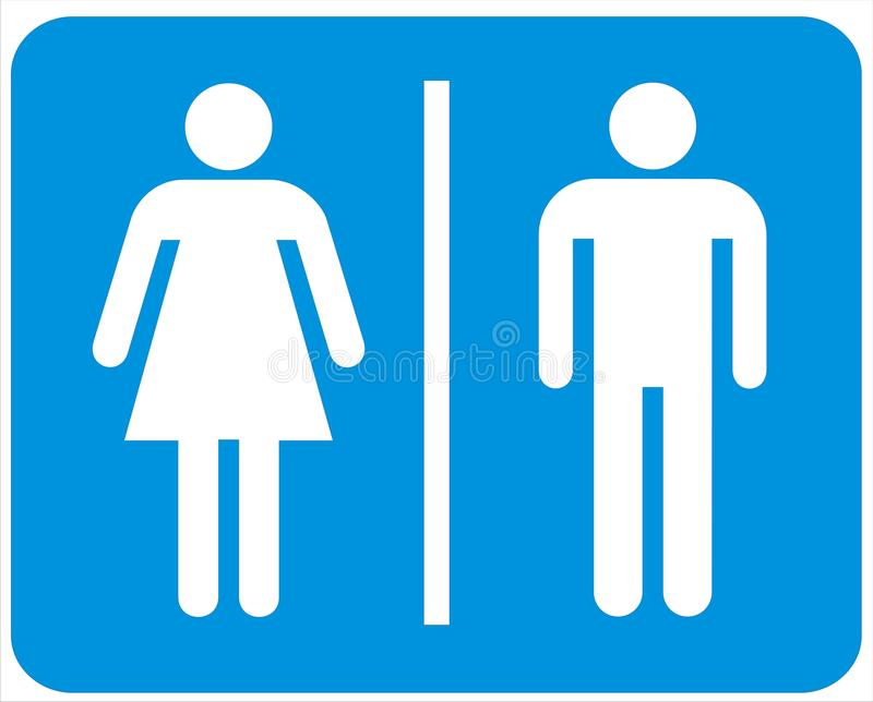 Male and female signs royalty free illustration