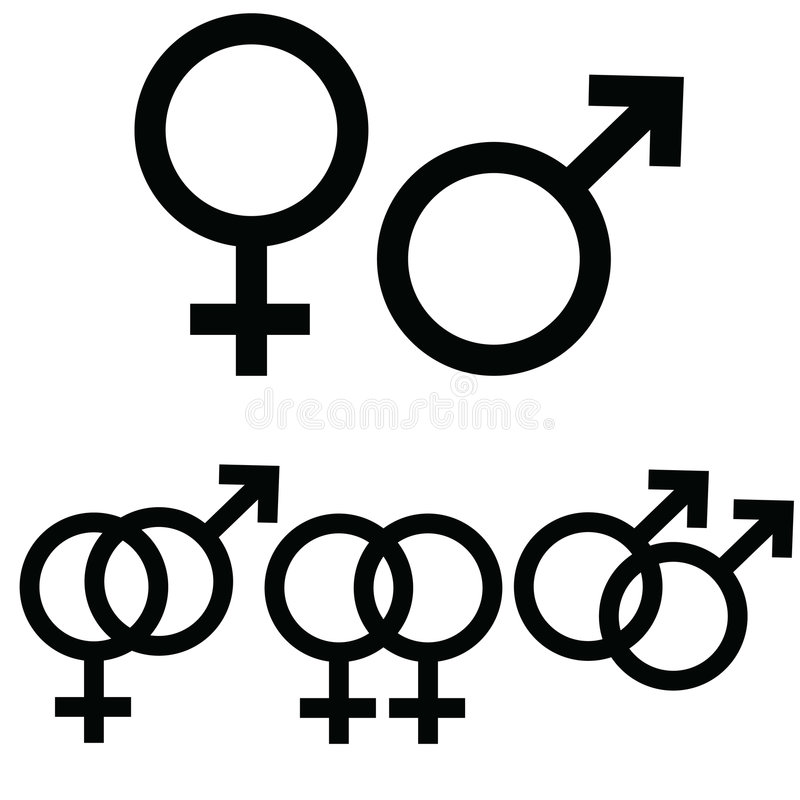 Download Male and female signs stock vector. Image of woman, heterosexual - 8486474