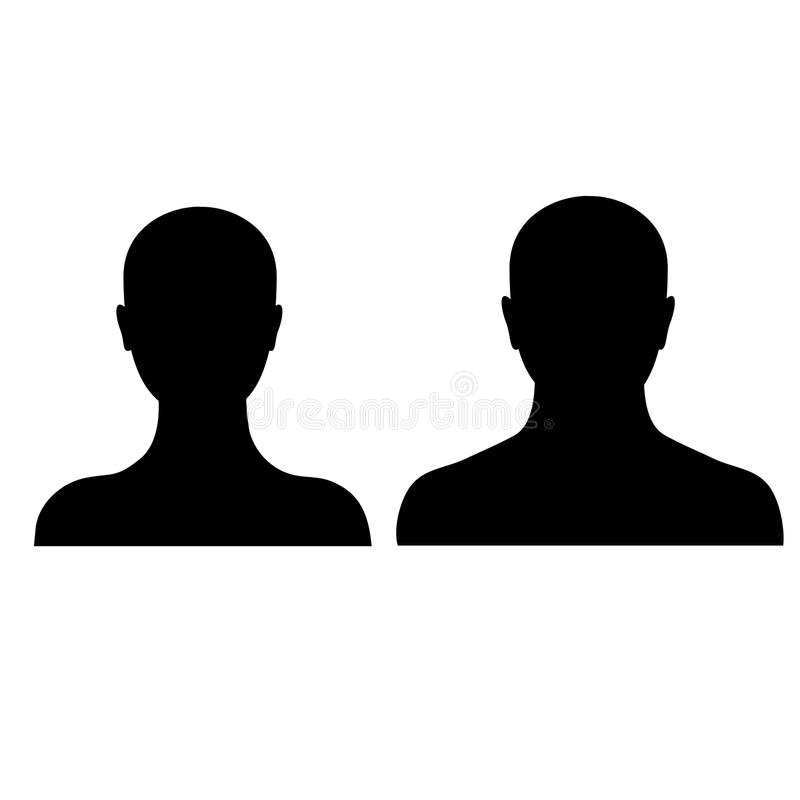 Male and female silhouette on a white background stock photo