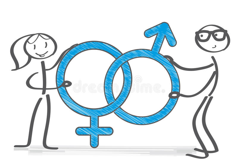 Male and female symbol illustration royalty free illustration