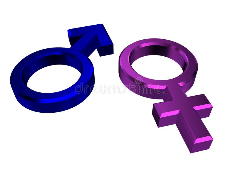 Download Male and female symbols stock illustration. Illustration of icon - 14678239