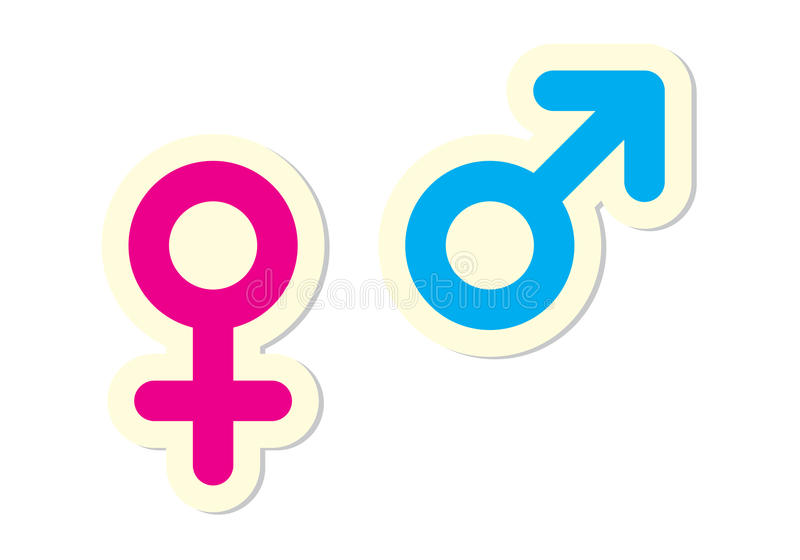 Male And Female Symbols Stock Vector Illustration Of Girl 15931536