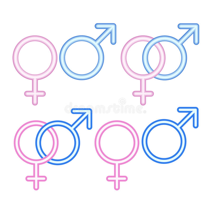 Download Male and  female symbols. stock vector. Image of background - 25521078