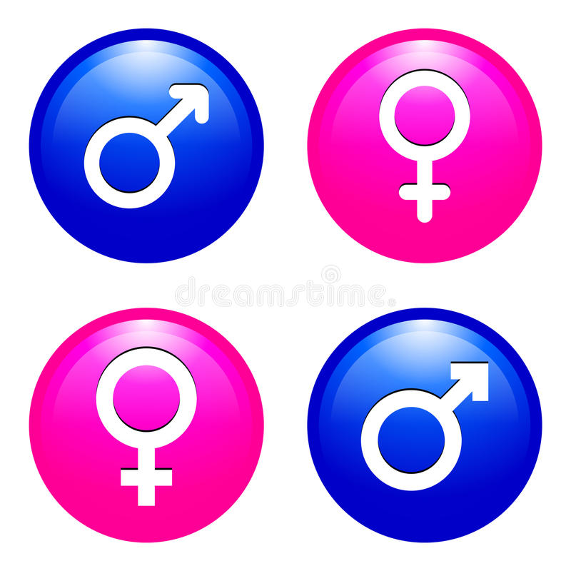 Male And Female Symbols Stock Vector Illustration Of Glossy 47224899