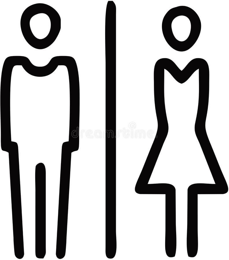 Toilet Restroom Sign. Male Female Toilet Restroom Bathroom stock illustration