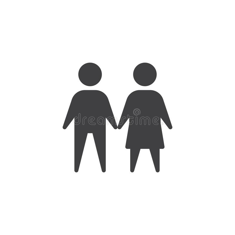 Male and female vector icon royalty free illustration
