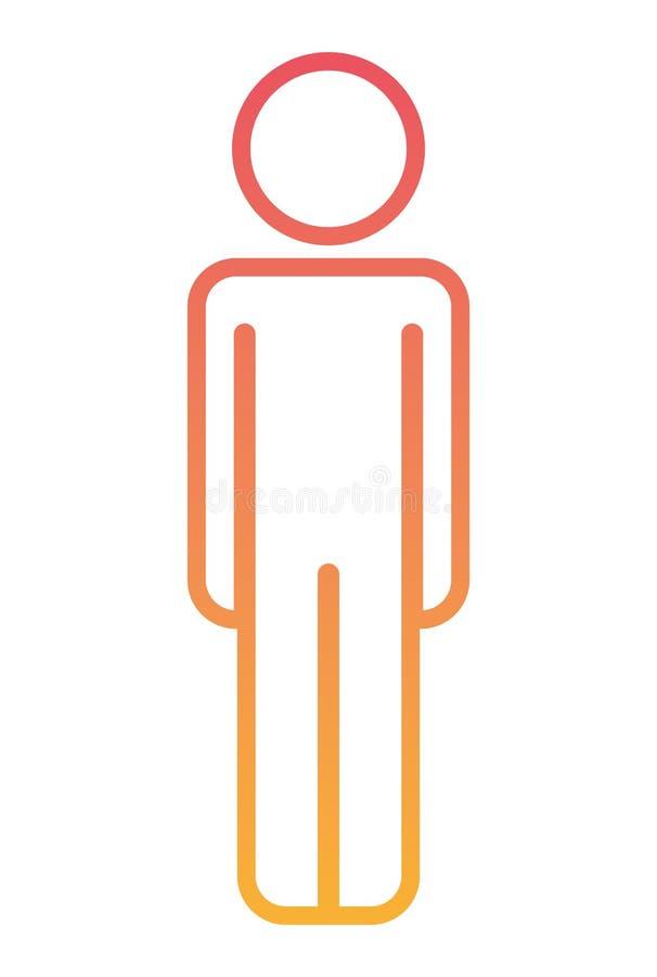 Male figure human silhouette stock illustration