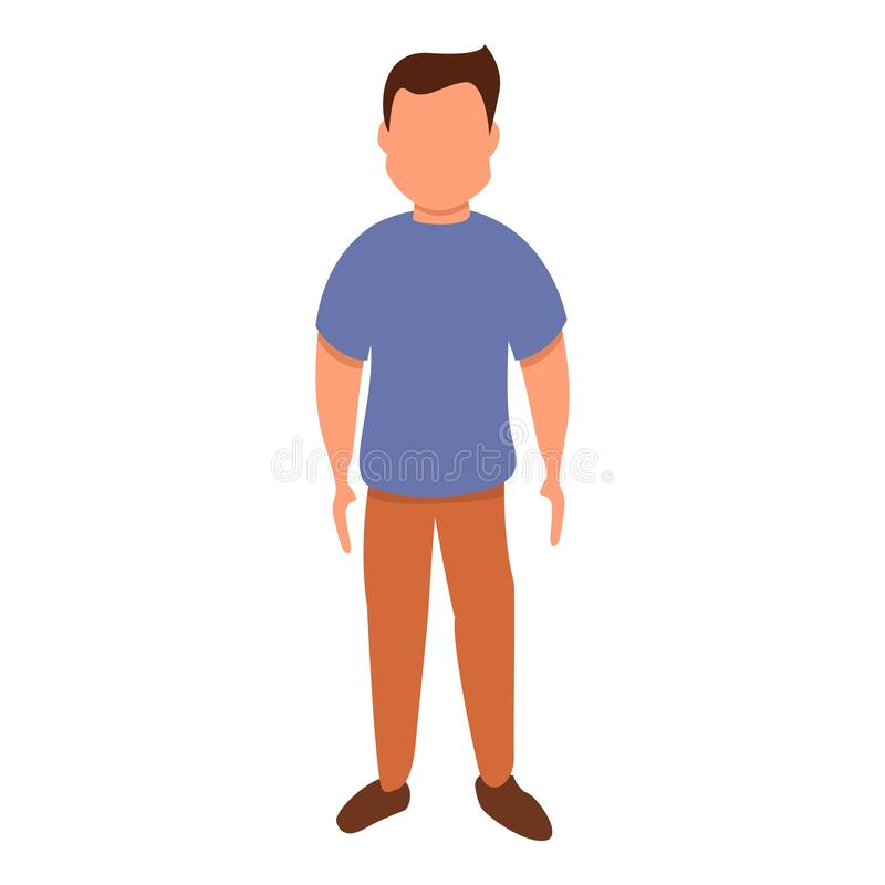 Male figure icon, cartoon style royalty free illustration