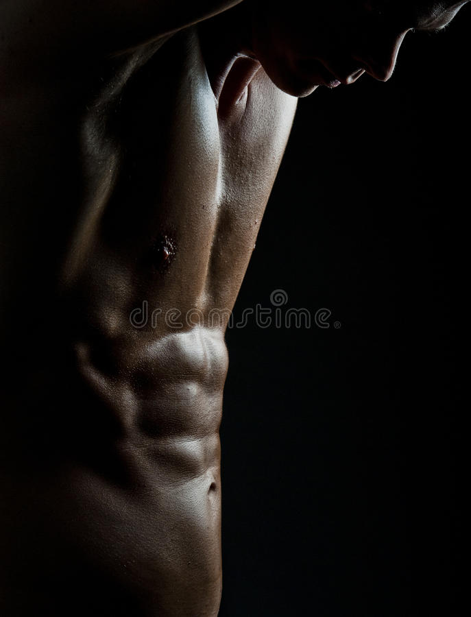Male fitness stock photo