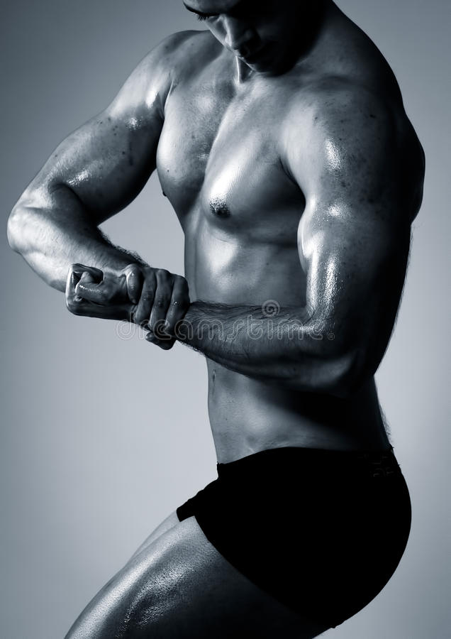 Male fitness royalty free stock photography
