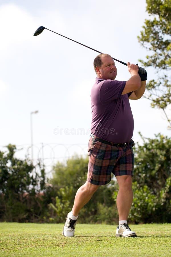 Male golfer royalty free stock photo