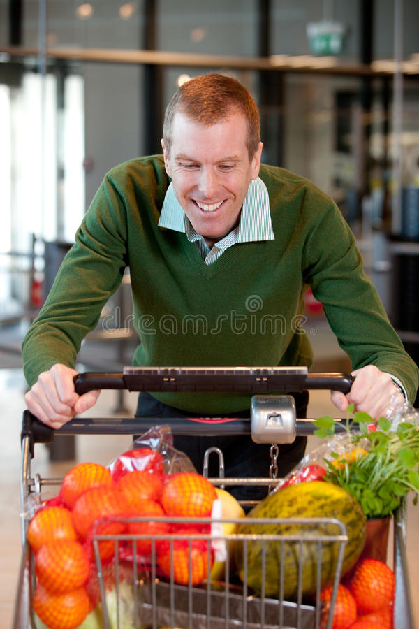 Male in Grocery Store royalty free stock photos