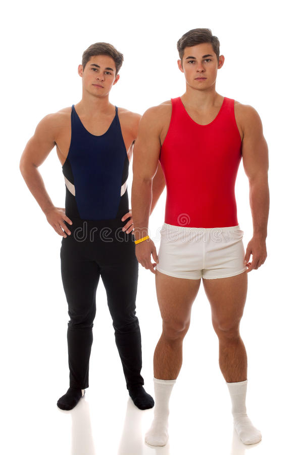 Download Male Gymnasts stock photo. Image of opponents, confrontational - 26929326