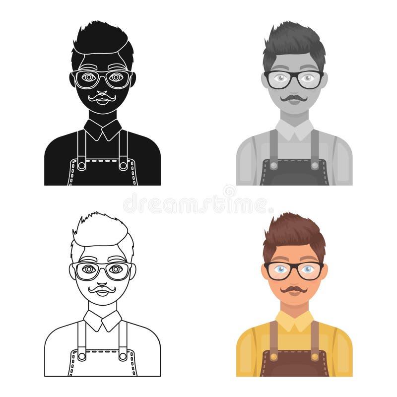 Male hairdresser.Barbershop single icon in cartoon style vector symbol stock illustration web. royalty free illustration