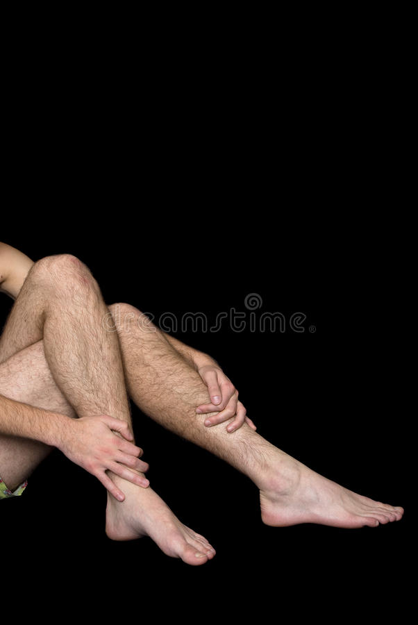 Free Male Hairy Legs And Arms Royalty Free Stock Image - 12068526