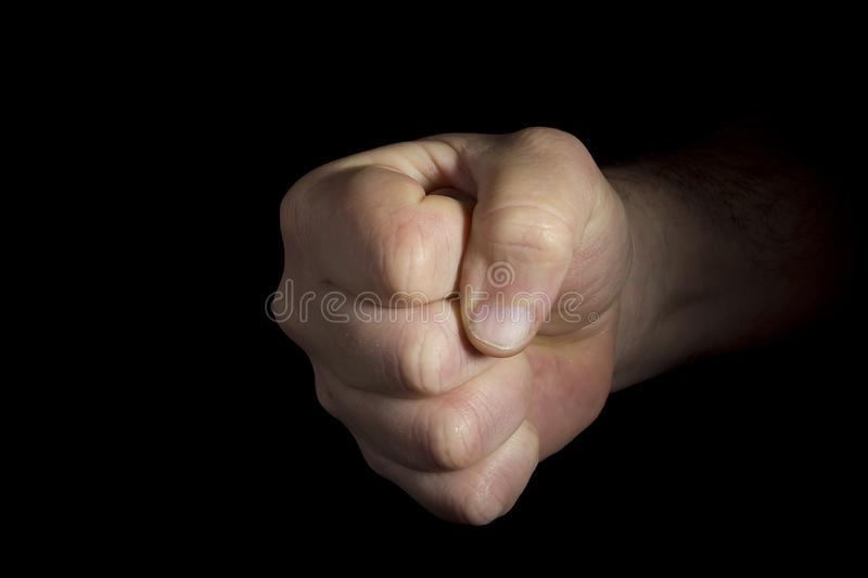 Hand clenched into a fist royalty free stock photo